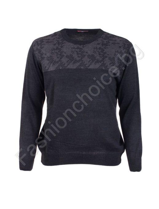 Прекрасен вълнен мъжки пуловер / 3XL, 4XL, 5XL, 6XL/