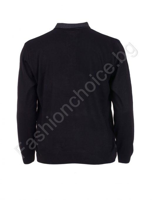 Прекрасна мъжка макси блуза в три цвята с якичка