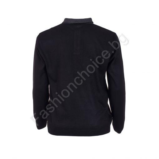 Интелигентна мъжка макси блуза в три цвята с якичка