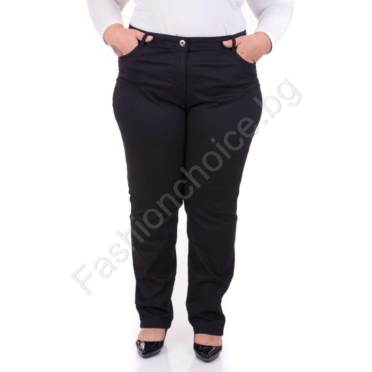 Модерен изчистен дамски панталон в черно и тъмносиньо