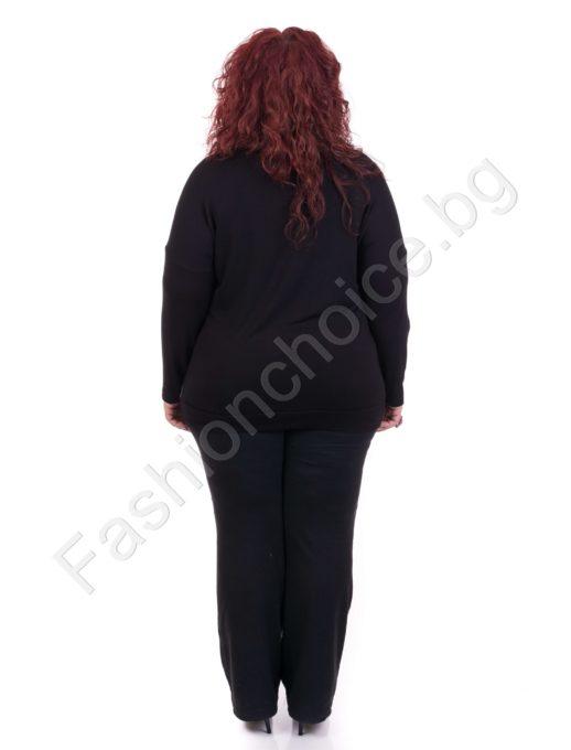 Комфортна дамска макси блуза с блестяща пеперуда