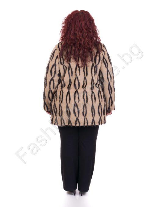 Приказно късо дамско палто/ макси размери/