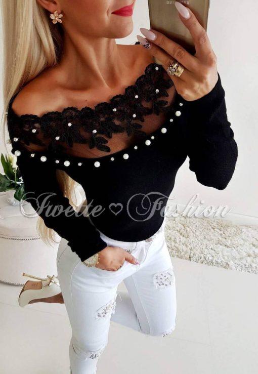 Хит модел дамска блуза в черно