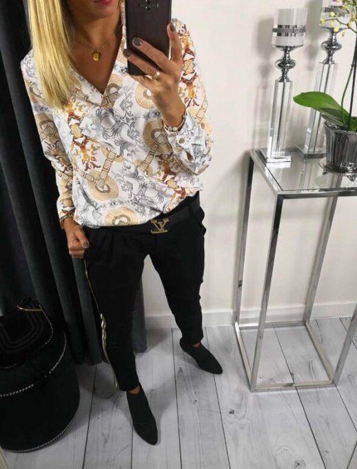 Великолепна дамска риза с нежен принт