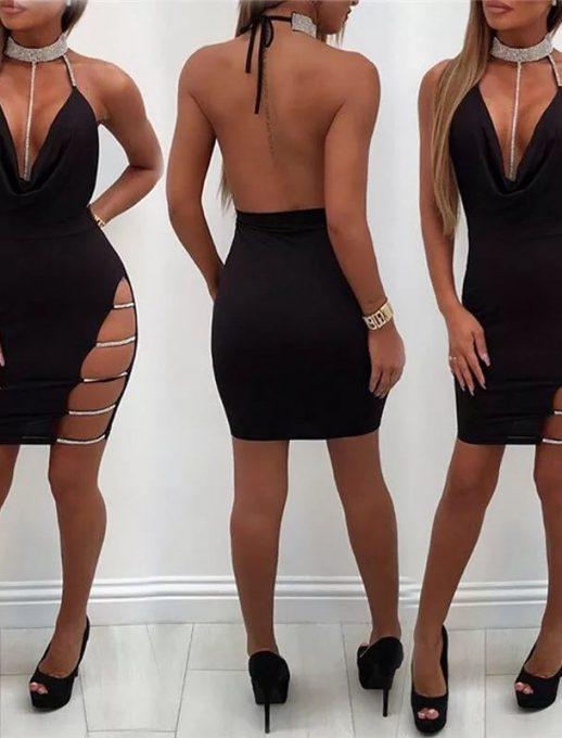 Провокативна къса рокля с ефектно деколте