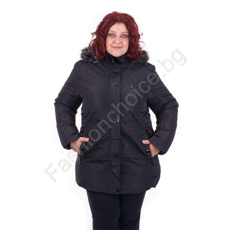 Великолепно дебело зимно макси яке с качулка/каки,бордо, черно/