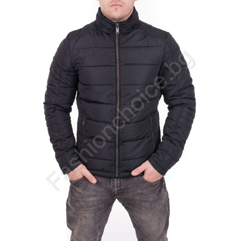 Зимно мъжко яке със скрита качулка в три десена