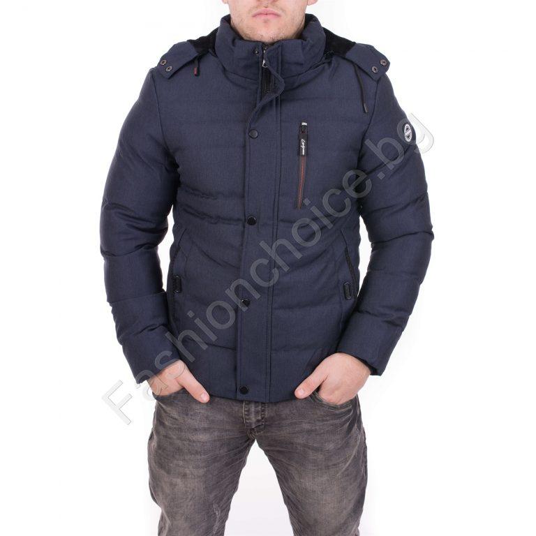 Оригинално мъжко зимно яке с качулка в три цвята