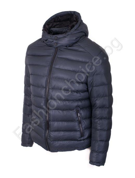 Мъжко дебело зимно макси яке с качулка/от 54 до 62 размер/