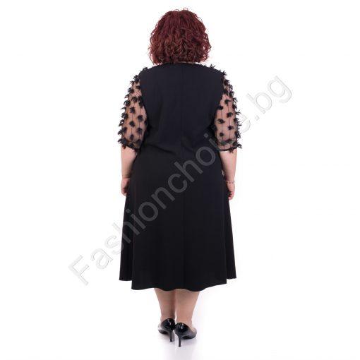 Кокетна макси рокля с шикозен и нежен тюл