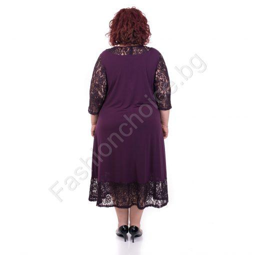 Очарователна макси рокля с уникална дантела в три десена