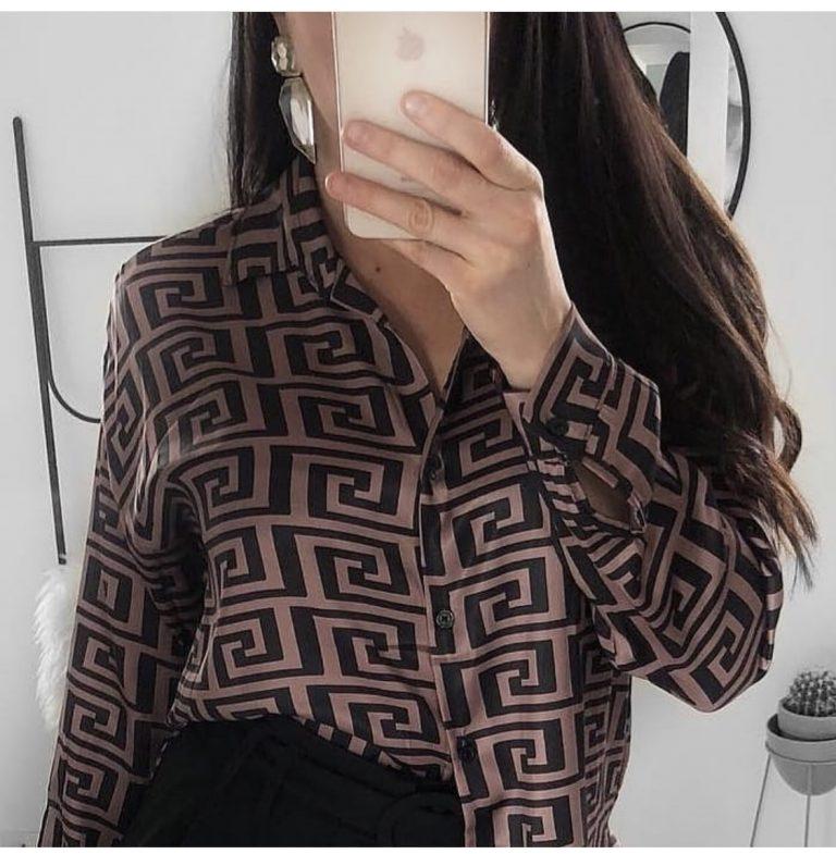 Невероятна дамска риза в шикозен моден принт