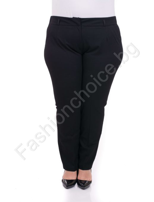 Класически изчистен плътен макси панталон в два цвята/52-60/