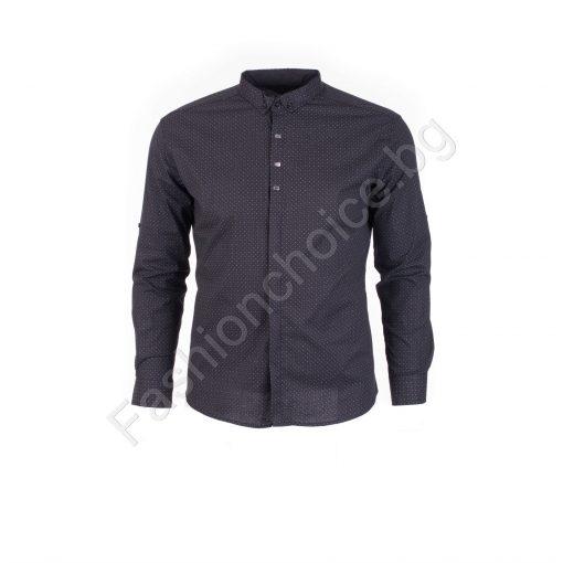 Прекрасна мъжка макси риза в черно/4XL,5XL,6XL/