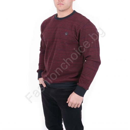 Мъжка блуза от плътна материя в цвят бордо /XL,2XL,3XL,4XL/