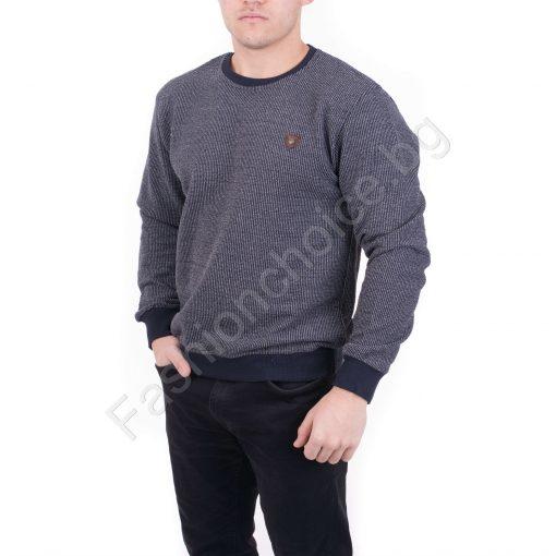 Мъжка зимна блуза в бордо и тъмно син цвят /XL,2XL,3XL,4XL/