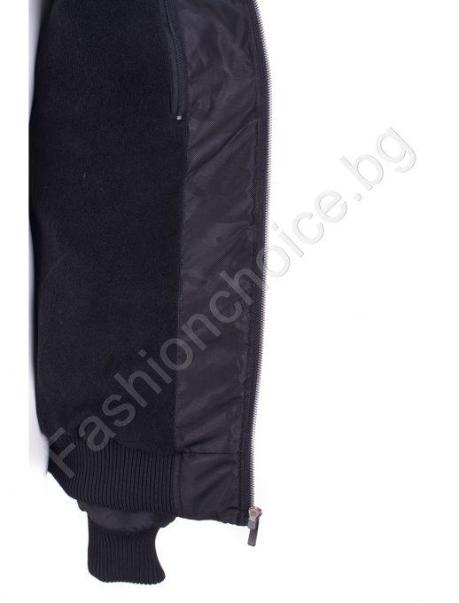 Зимно мъжко макси яке с махаща се качулка в два цвята