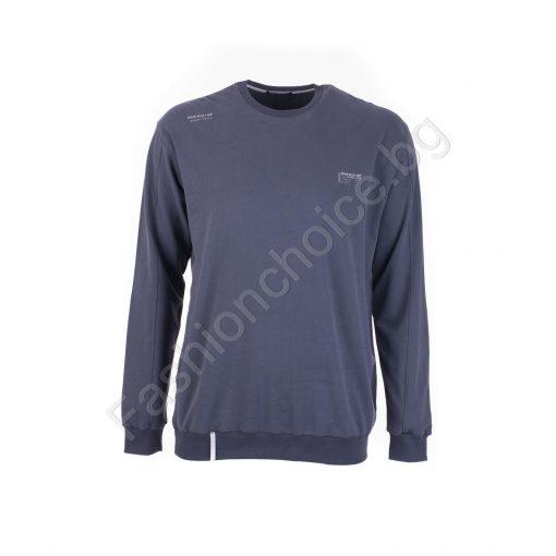 Леко ватирана мъжка макси блуза в три практични цвята 3XL-4XL-5XL