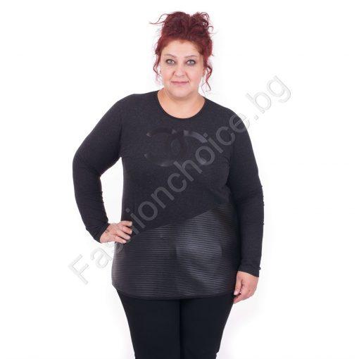 Приятна дамска макси блузка с нежна модна апликация