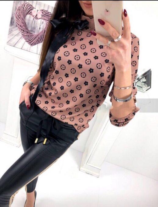 Чудесна дамска блузка с панделка за акцент