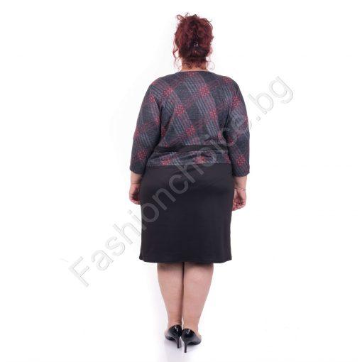 Великолепна и стилна макси рокля на цветно каре