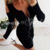 Чудесна дамска рокля с цял цип в черно