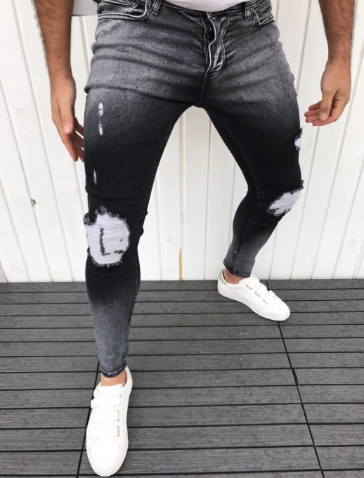 Модерни мъжки дънки PASAPORT с омбре ефект