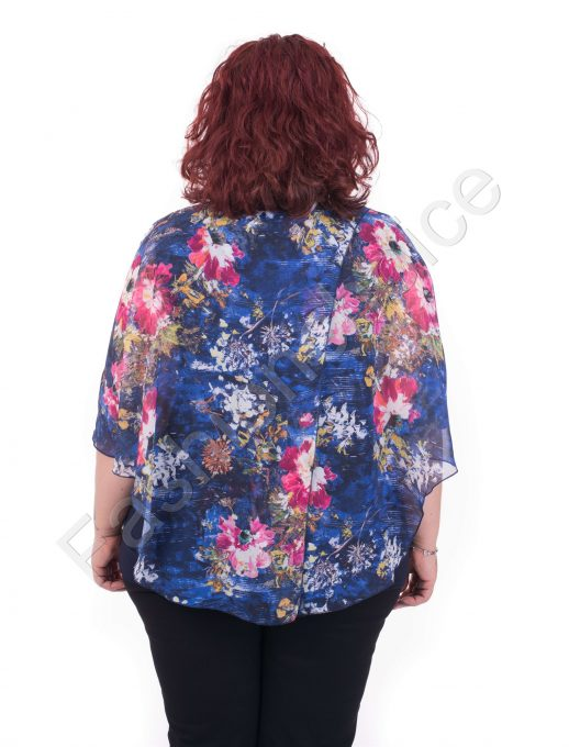 Прекрасна макси блуза от нежен шифон в четири флорални десена