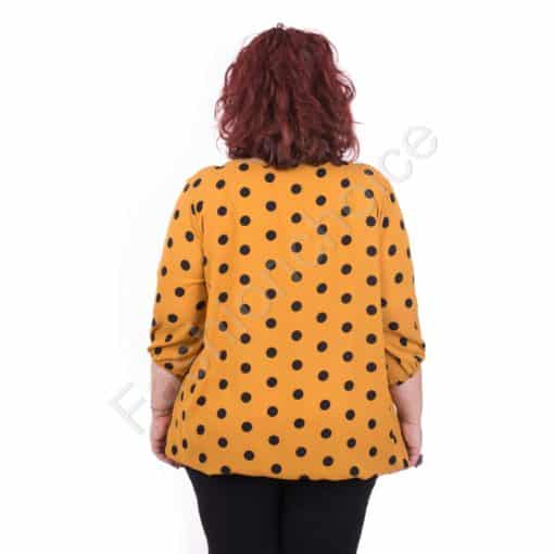 Красива макси блузка от нежен шифон в четери цвята/5XL,6XL/