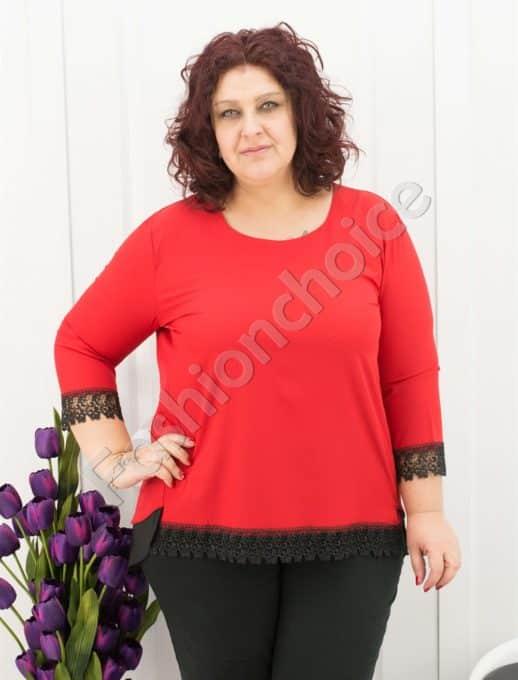 Елегантна макси блуза с нежна дантела в три цвята