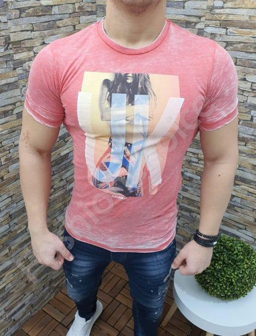 Мъжка тениска в цвят корал Код 339-2