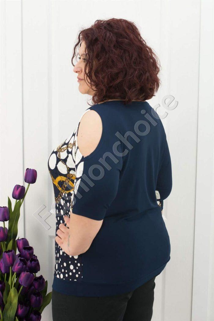 Прекрасна макси блуза с голо рамо и красиви орнаменти