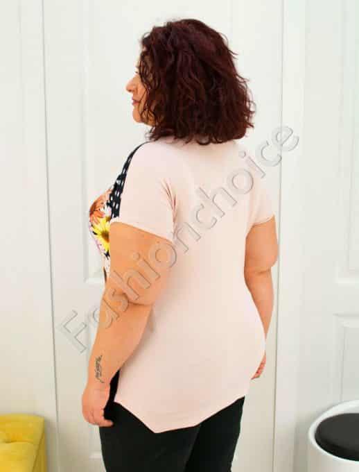 Нова макси блузка със свежи маргаритки /3XL-7XL/