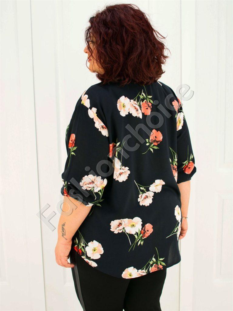Прекрасна макси риза на цветя/52-60/-код 704-3