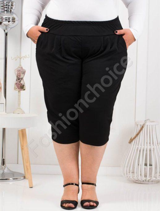 Практичен макси 7/8 панталон в черно-код 7047