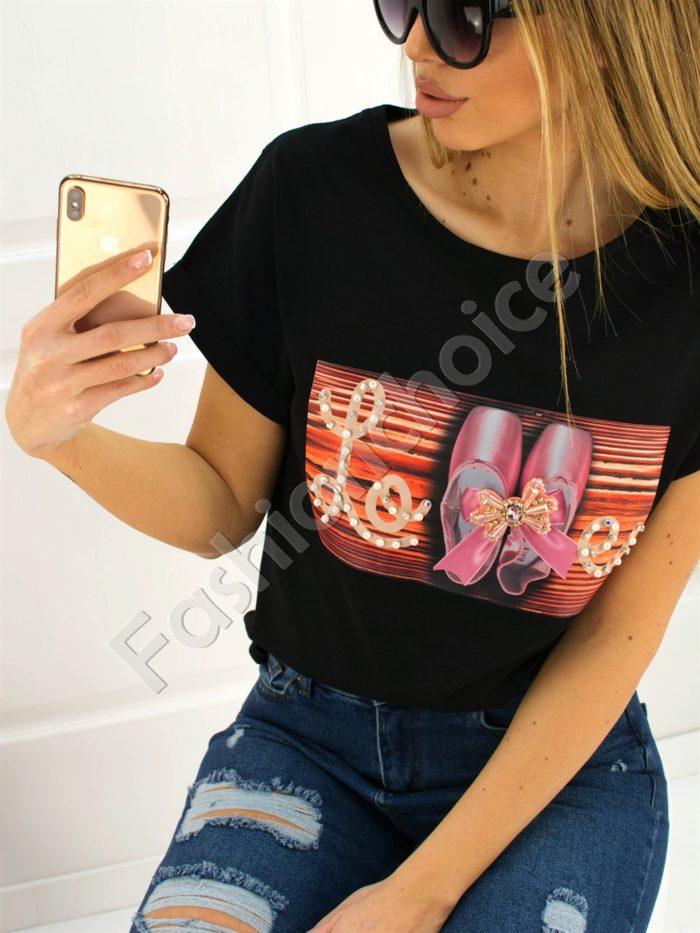 Дамска блузка LOVE- код 707-3007