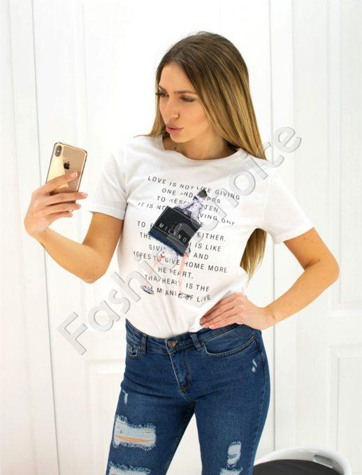 Дамска блузка MILANO- код 707-3014-1