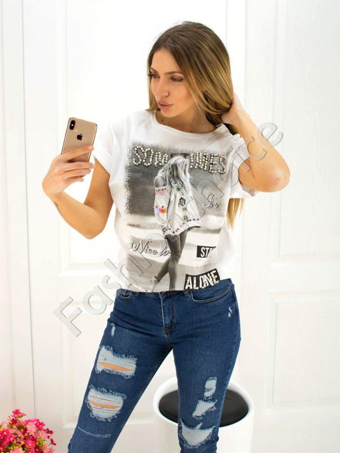 Дамска блуза- код 707-3045