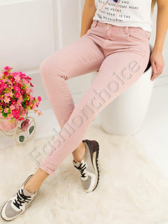 Дамски панталон в цвят пудра- код 719-899-1