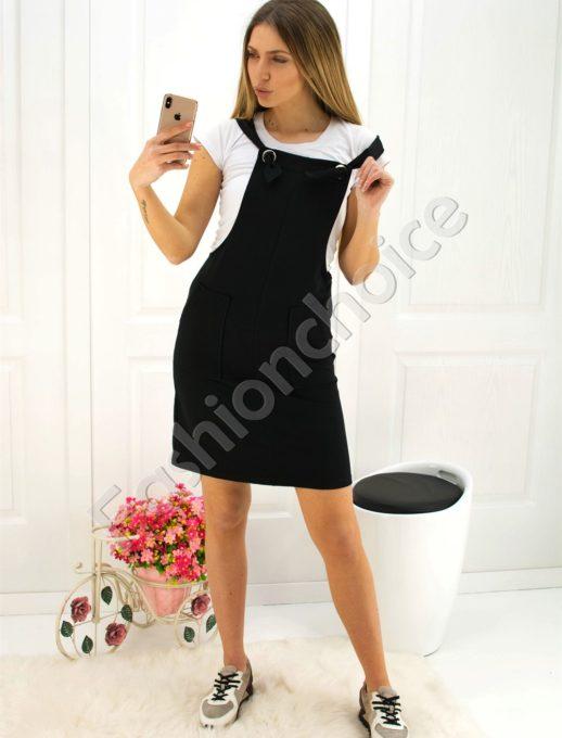 Дамски сукман в черно - Код 725