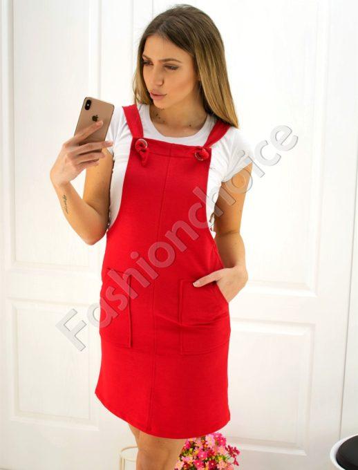 Дамски сукман в червено- Код 725-1