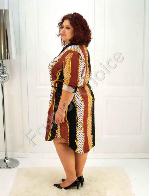 Елегантна макси рокля-риза /52-60/-код 706
