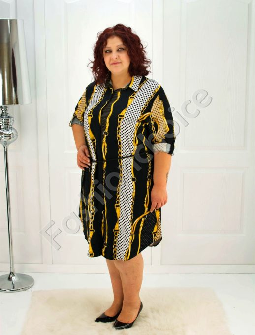 Елегантна макси рокля-риза /52-60/-код 706-1