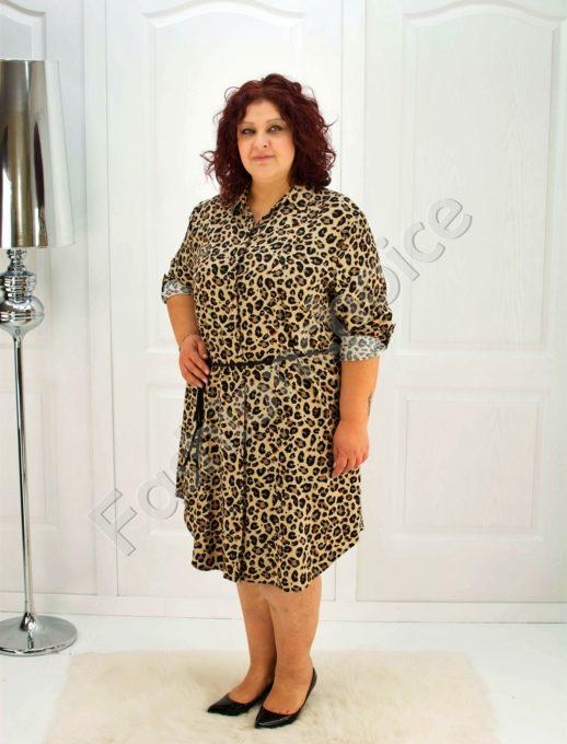 Елегантна макси рокля-риза /52-60/-код 706-2