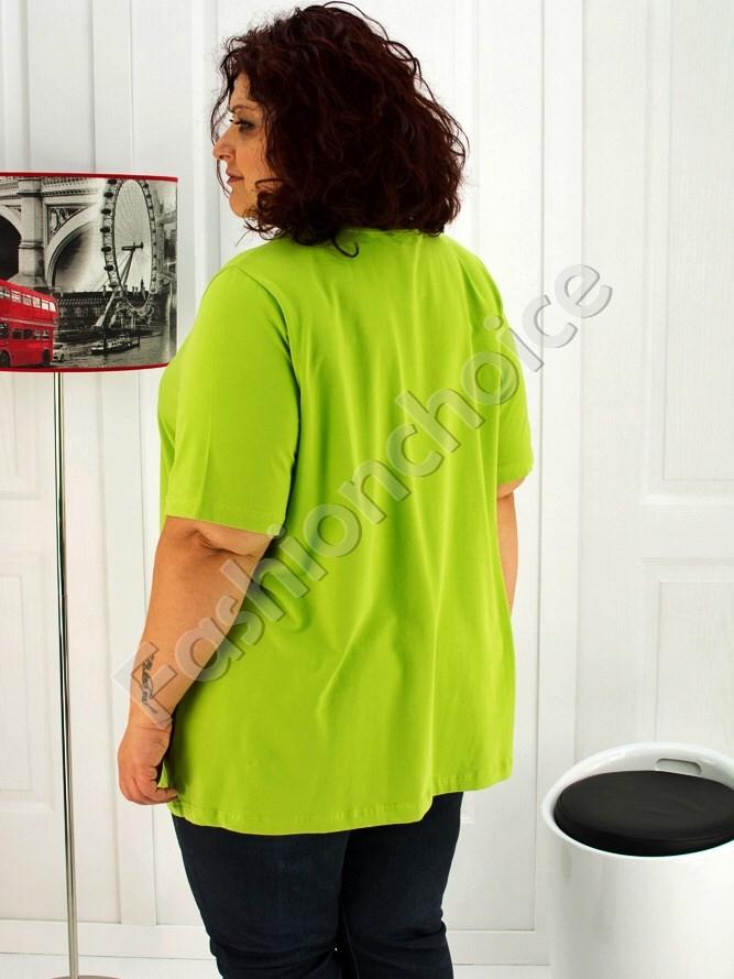Дамска макси блуза с красива романтична щампа- код 713-4