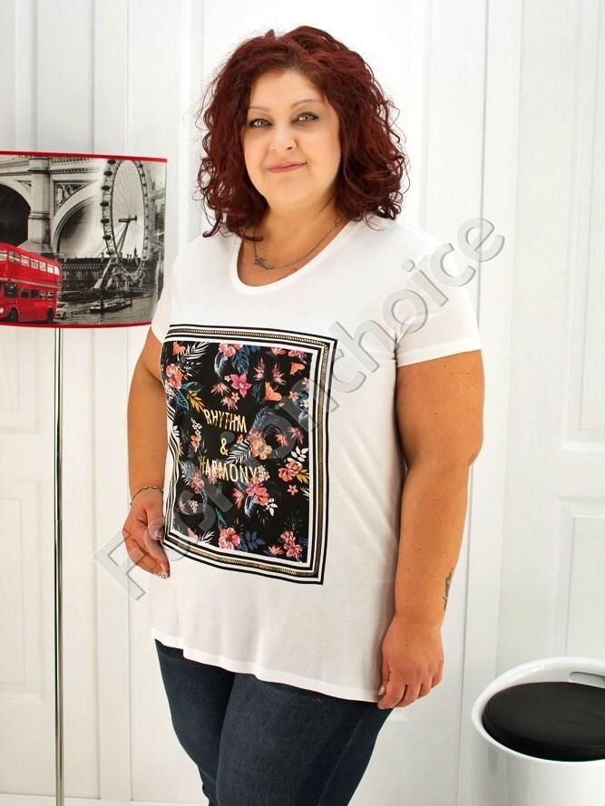Дамска макси блуза с флорален принт- код 713-5