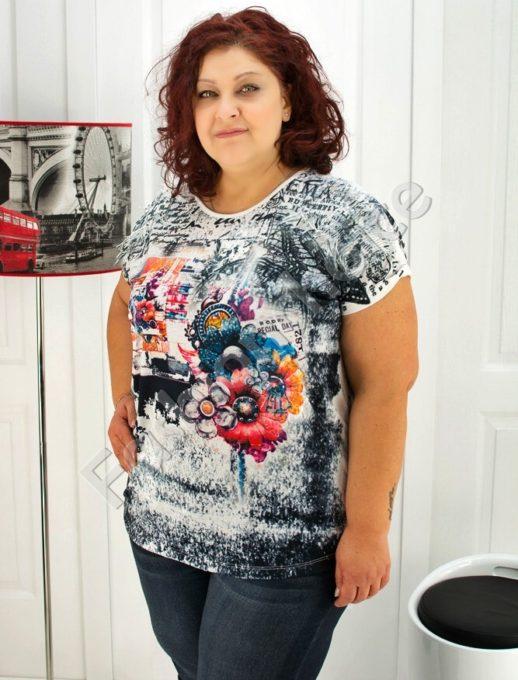 Нов модел макси блуза с ресни на рамената- код 720-03378
