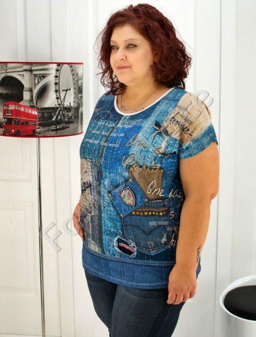 Макси блуза с нежна декорация- код 720-8