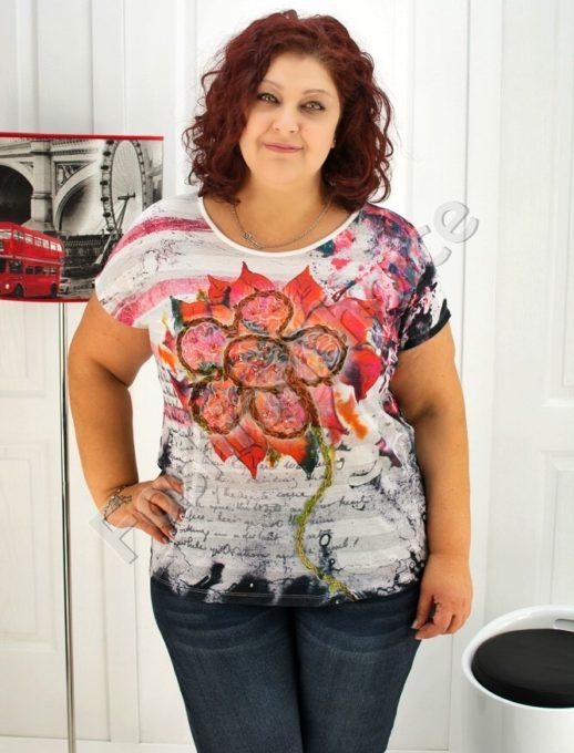 Дамска макси блуза с красива декорация- код 720-03441
