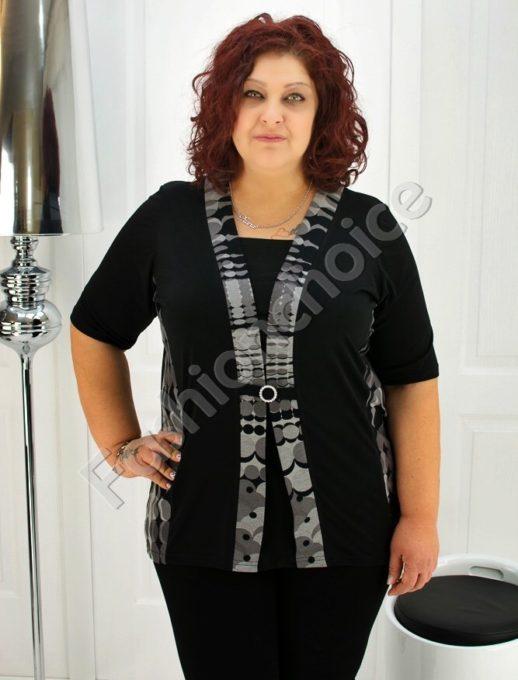 Дамска макси блуза имитираща две части- код 247-1078